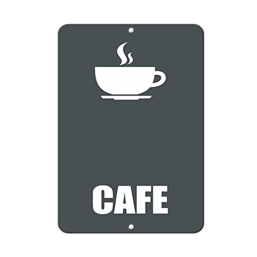 Cafe Business Sign Lunch Room And Break Room LABEL DECAL STICKER Sticks to Any Surface 9x12 In