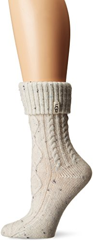 UGG Women's Sienna Short Rainboot Sock, cream, O/S (Womans Boot Liners)