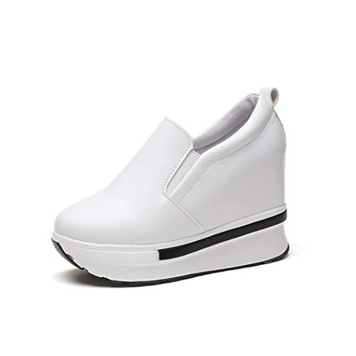 the latest 07c78 7456c Btrada Womens Flat Platform Wedges Wedges Wedges Sneakers Comfortable  Slip-on Shoes Fashion Casual PU Insole Booties B07GBQ1P6Q Parent 8189b8