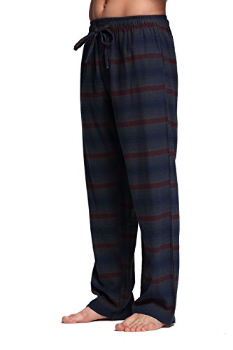 CYZ Men's 100% Cotton Super Soft Flannel Plaid Pajama Pants-CrocodileStripe-L ()