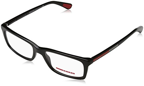 Prada PS02CV 1AB1O1 Men's Eyeglasses Black 53mm (Prada Reading Glasses For Men)
