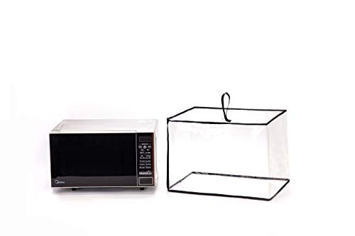Microwave Oven Cover, Heavy Duty Toaster Oven Cover, Clear Waterproof Toaster Cover, Dust-Proof Protector WBLZ02