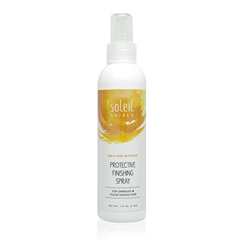 Soleil Shield Sun Protection Finishing Spray - Hair Sunscreen - Hair Color Protection Spray - Organic Hair Sunscreen - Leave In Hair Treatment - Hair Shine Spray - Organic Leave - Hair Scalp Sunscreen