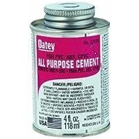 Oatey 30818 All Purpose Medium Body Cement, 4 oz Can, Milky Clear (Case of 24) by Oatey