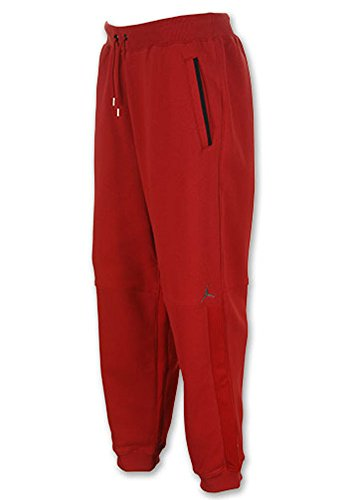 Jordan Mens Retro 4 Caged Up Sweat Pants Red