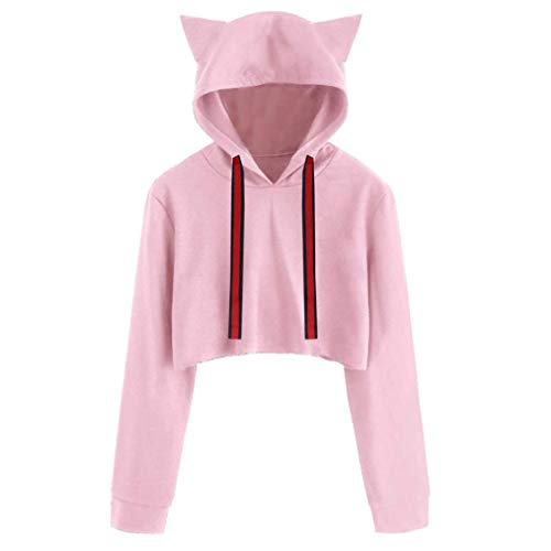 Amazon.com: Clearance Sale! Hoodies Tops for Teen Girls, Iuhan Womens Girls Cat Ear Blouse Sweatshirt Hooded Pullover Crop Tops (XL, Gray): Beauty