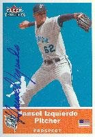Hansel Izquierdo Portland Sea Dogs - Marlins Affiliate 2002 Fleer Tradition Autographed Card - Minor League Card. This item comes with a certificate of authenticity from Autograph-Sports. Autographed