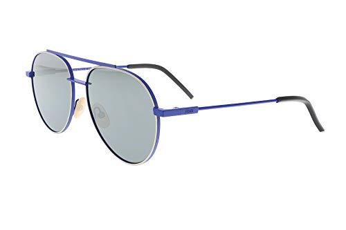 Fendi Men's F0222 Aviator Sunglasses, Blue, 56-16-145