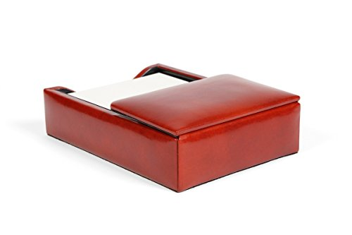 Bosca Old Leather Flip Top Memo Box (Amber) by Bosca (Image #4)