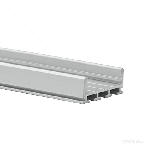 Design Extrusion Aluminum - 3.28 ft. Anodized Aluminum GIZA Drywall Channel - For LED Tape Light - Works with TEKNIK Extrusion Mount - Klus B5556