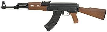 Pack iniciación Fusil Airsoft AK47 Cyma con batería y Cargador + Gafas de protección + máscara de Rejilla + 3000 Bolas 0,25 g