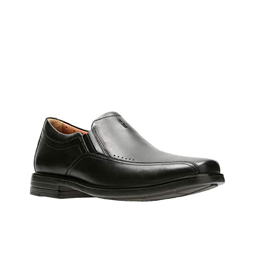 CLARKS Unsheridan Go Mens Slip On Loafers Black Leather 14 W