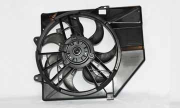 TYC 620230 Ford/Mercury Replacement Radiator/Condenser Cooling Fan Assembly - Ford Escort Condenser