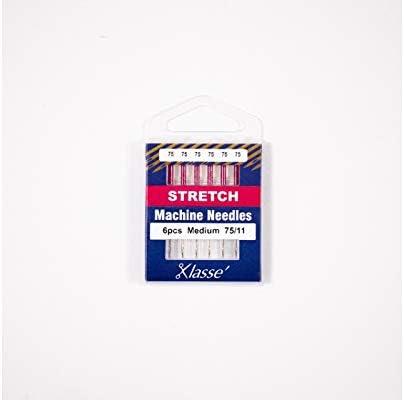 6pcs 1 Pack AA5102.075 Size 75//11 Klasse Stretch Needles