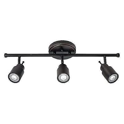 Lithonia Lighting LTFSTCYL MR16GU10 LED 27K 3H BN M4 3-Light Fixed-Track Lighting Kit, Brushed Nickel