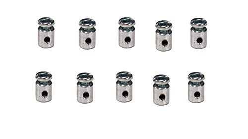 (Rotary 10 Pack 219 Universal Round Body Wire Stop for Throttle Cable Brake Cable Mini Bike)