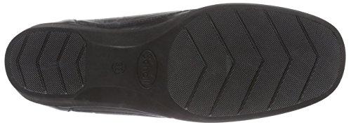 Scholl PAULA - Zapatillas de casa de piel mujer negro - negro