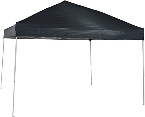 AmazonBasics Pop-Up Canopy Tent, 10 x 10 Foot, Grey