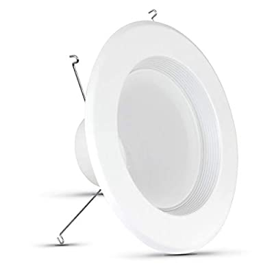 "FEIT Electric Enhance LED Retrofit Kit Recessed Light, 5""/6"" 75W Equivalent Natural Daylight (5000K) (LEDR56B/950CA/MP/6)"