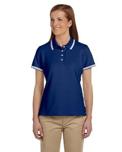 Chestnut Hill Women's Tipped Performance Plus Pique Polo (Contrast Collar Pique Polo Shirt)