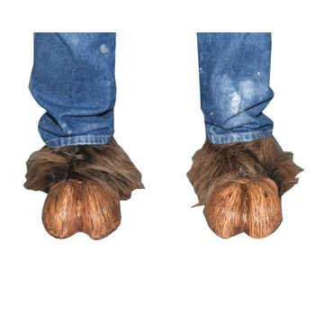 [Zagone Studios Brown Costume Hooves] (Satyr Halloween Costumes)