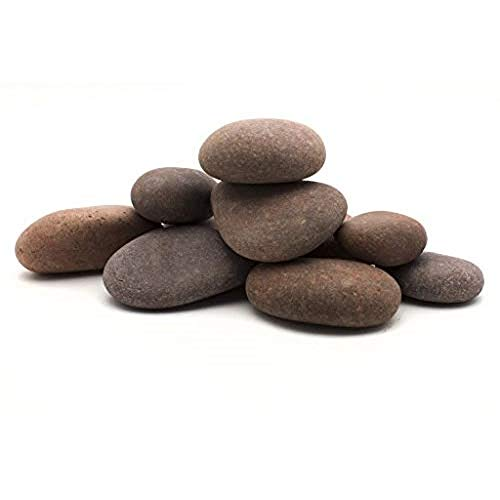 Margo Garden Products RFRBP5-30 Beach Pebbles, Large, Red/Rose