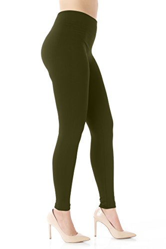 Conceited Fleece Lined Leggings for Women - LFL Olive Green - Large/X-Large ()