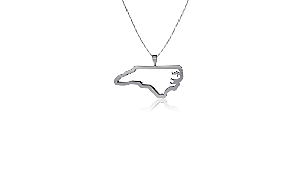 Silver Dayna Designs Virginia State Outline Pendant Necklace Sterling Silver Jewelry Small for Women//Girls