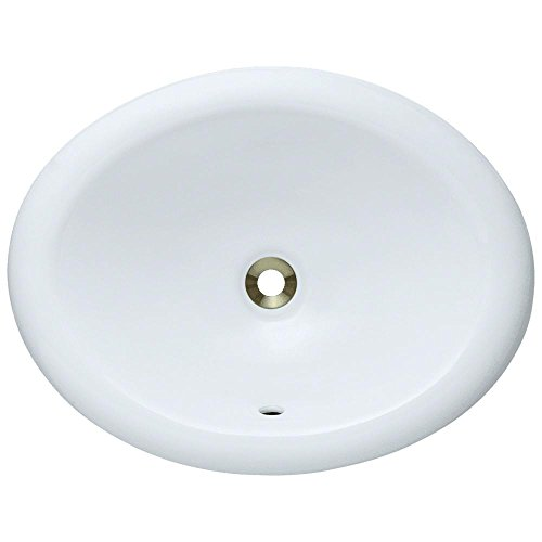 O1917-White Overmount Porcelain Bathroom Sink, Sink Only by MR Direct
