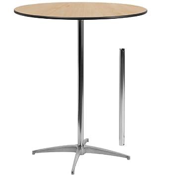 Flash Furniture 36u0027u0027 Round Wood Cocktail Table With 30u0027u0027 ...