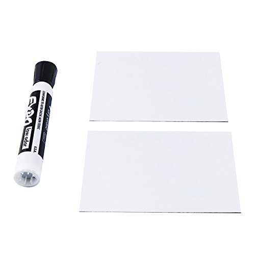 Gloss White Scribble 4.5 x 1.5 Inch Flexible Magnetic Labels with Dry Wipe Surface Pack of Ten