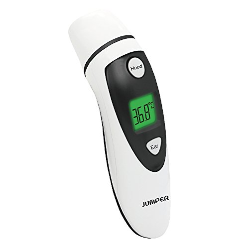 Jumper Forehead and Ear Thermometer Medical Digital Infrared Thermometer Improved Accuracy for Baby,Children&Adult by Jumper