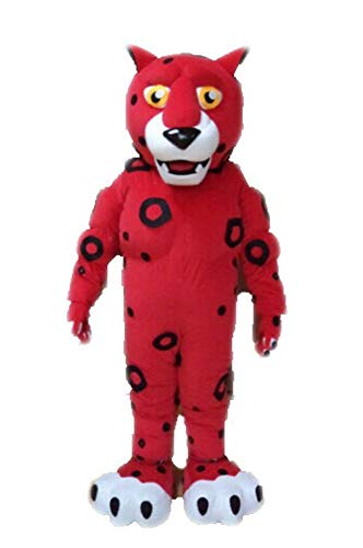 100% Real Photos Muscle Cheetah Mascot Costume for Sports Team College Mascots Made]()