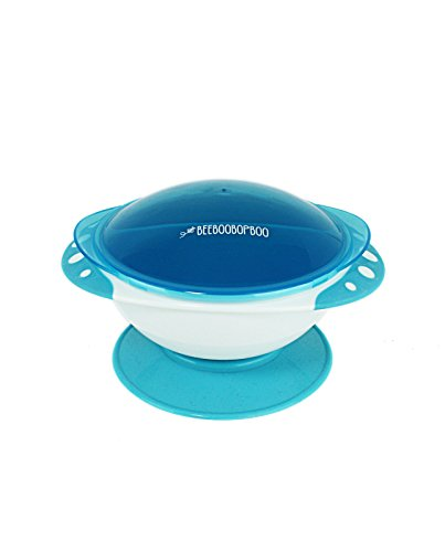 Baby Bowls with Suction,Vacuum Seal with Quick Tab Release and Snap on Lids, Spill Proof, 3 Compartment Design From BEEBOOBOPBOO