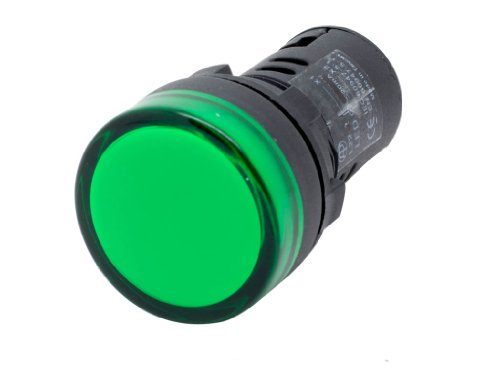 Alpinetech L22 Green 22mm AC LED Pilot Panel Indicator Light 120V (Indicator Led Green)
