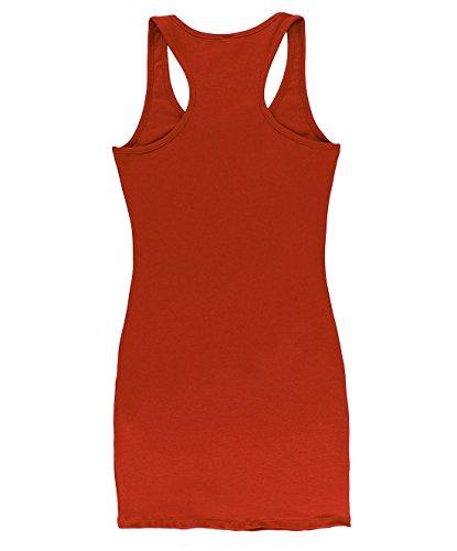 S Basic Women's Fitted 3XL Tunic Extra Blbdttk01 BLBD Long Red Tank Top 5816qd5x