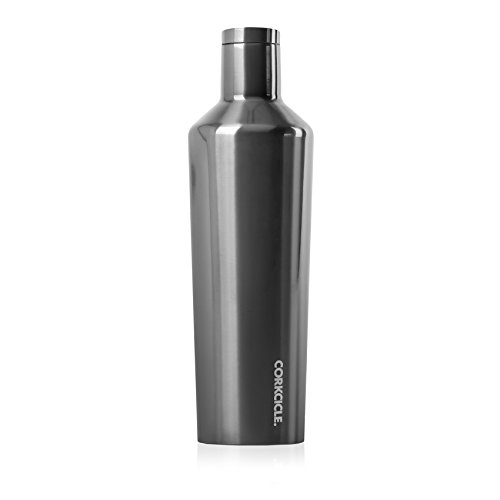 Corkcicle Canteen Classic Collection - Water Bottle & Thermos - Triple Insulated Shatterproof Stainless Steel, Gunmetal, 25 oz