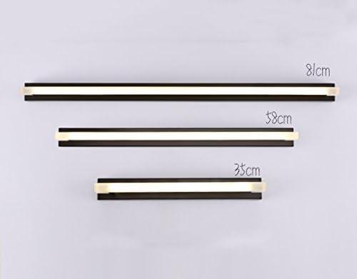 . LED-Spiegel-Scheinwerfer, wasserdichte und Anti-Fogging Badezimmer-Toiletten-Spiegel-Lichter, moderne Wand-Lampen-Hotel-Spiegel-Kabinett-Lichter (Color : Chrome)
