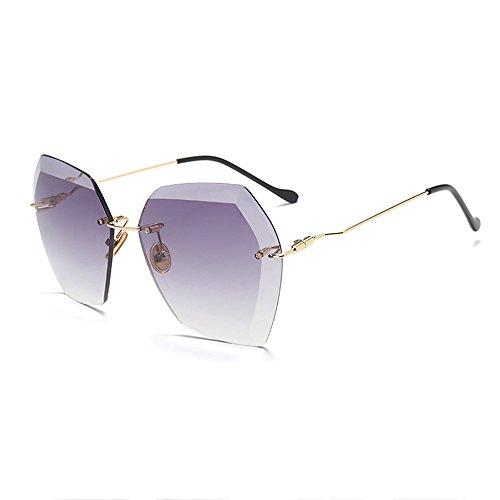 La Moda Cuadradas La Gafas De De Sol La Sin Las Gray Modernas De La Óptica Diamante De Marco Piernas De Manera De Green Moda Gafas Sol Recortadas De ZqwCC8