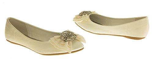 Ballerine Satin Chaussures Femmes de Occasions Rosie Mariage 4vwTqxaS