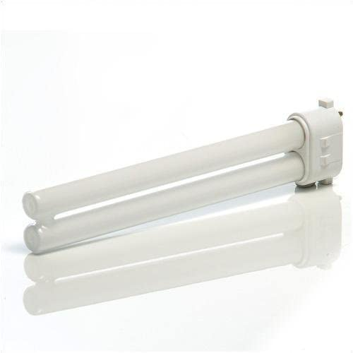 Single Pack TCP Compact Fluorescent Light Tube Features Twin Tube Shape and 2GX7 4-Pin Plug-In Base Bright Energy Efficient CFL Lamp 2700K Color Temperature 13 Watt and 120 Volt