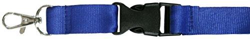 SBS® Schlüsselband 25mm 10 Stück blau