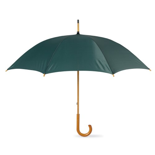 eBuyGB Classic Umbrella with Wooden Handle - Manual Opening Wedding Gentlemans Brolly (Green) ()