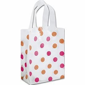 Pink & Orange Polka Dot Clear-Frosted Cub Gift Bags