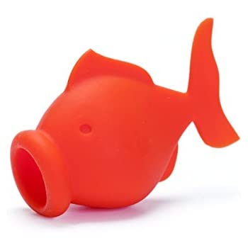Silicone YolkFish Squeeze Fish Lips Swallow Release Egg Separator Cooking and Baking Tool by Peleg Design