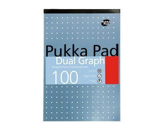 a4 dual graph pad 100 pages of 80gsm premium quality graph paper pad single