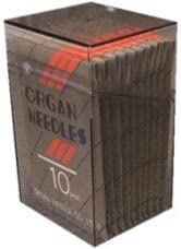 metric 80 100 Organ ELX705 SY2922 Flat Shank Home Serger Needles Size 12