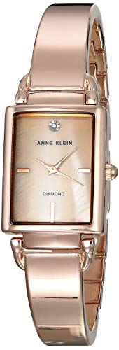 Anne Klein Classic Mother of Pearl Dial Stainless Steel Ladies Watch AK2494BMRG ()