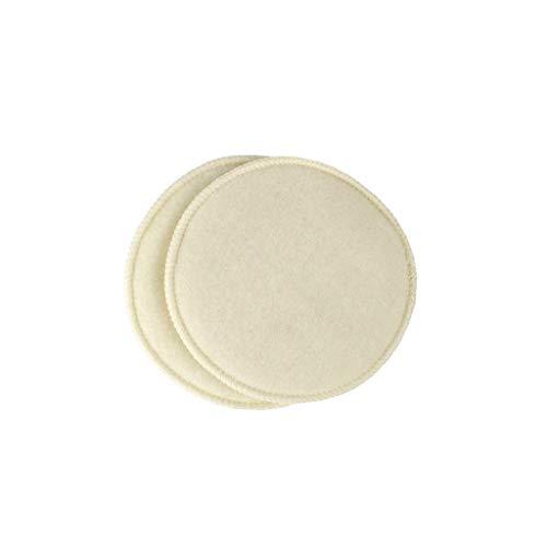 Organic Nursing Pads - Reusable Breastfeeding Natural Wool Small (b or c Cup) ()