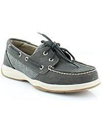 Women's Intrepid MD Grey/Dark Grey Boat Shoe 5.5M